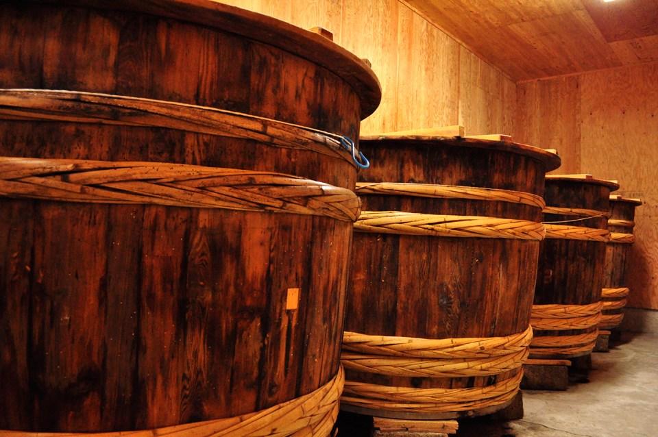 木桶で醸造