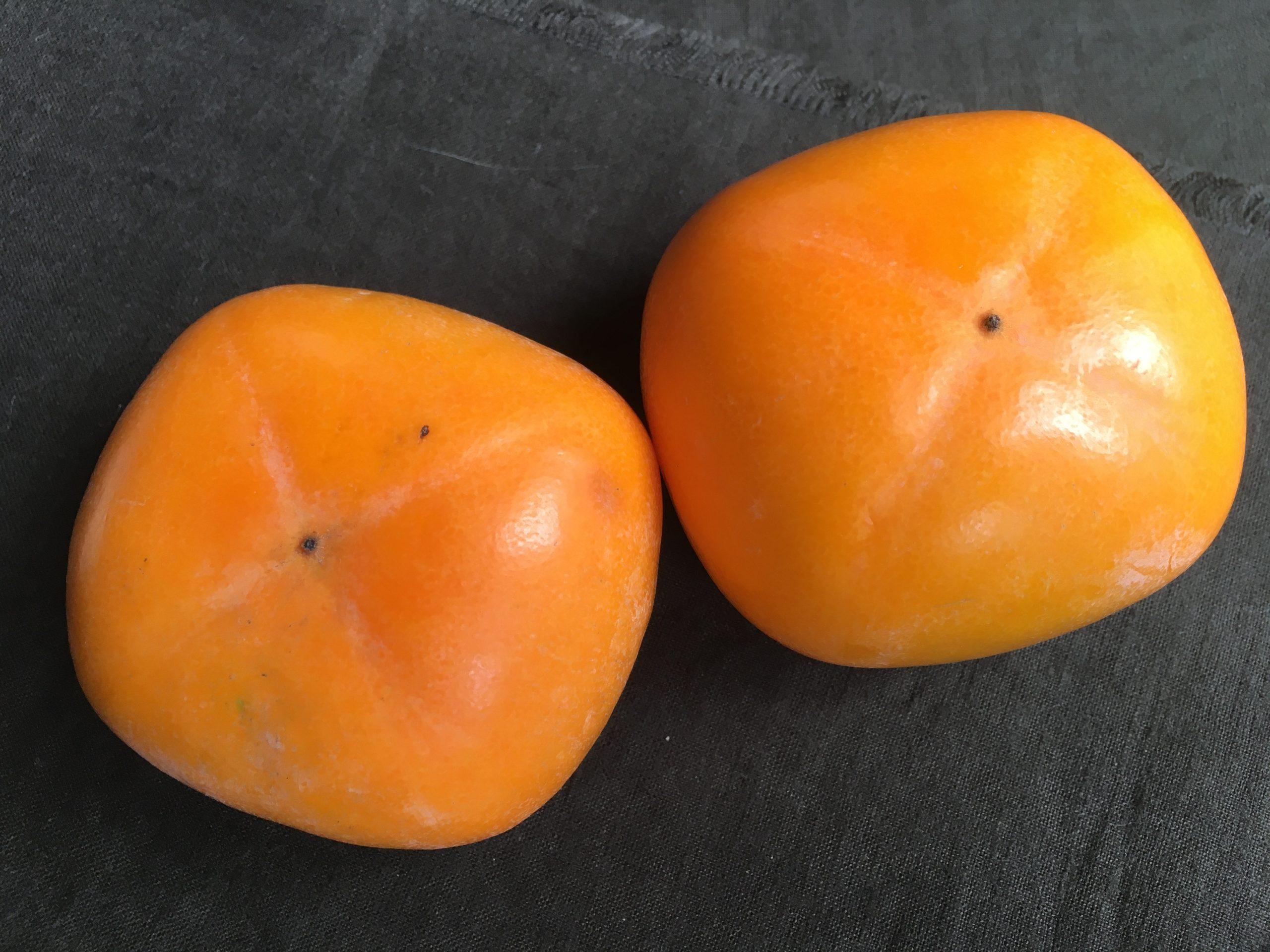 柿とスモークサーモンのマリネ